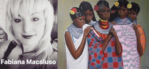 Fabiana Macaluso artista internazionale partecipa alla mostra della galleria Falzone Arte Contemporanea di Milano