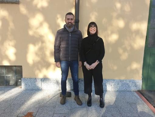 Il presidente di Hope Running Giovanni Mirabella e Roberta Pane, promotrice della raccolta