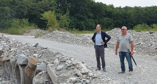 Da sinistra, il sindaco Paschetta e l'assessore Peverengo