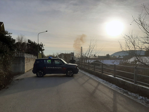Serbatoio pensile abbattuto a Luserna San Giovanni
