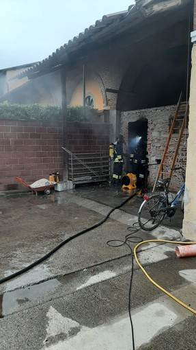Incendio locale caldaia a Pinerolo