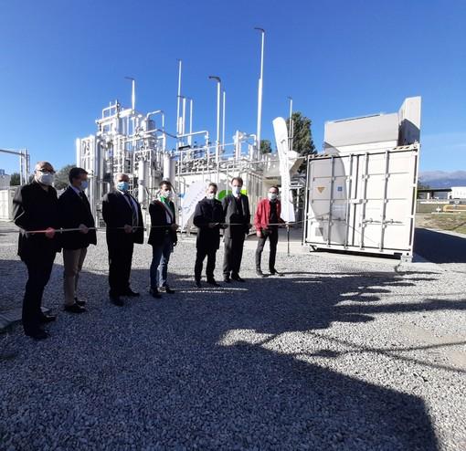 Acea pinerolese industriale battezza il nuovo impianto a biometano per autotrazione (FOTO)