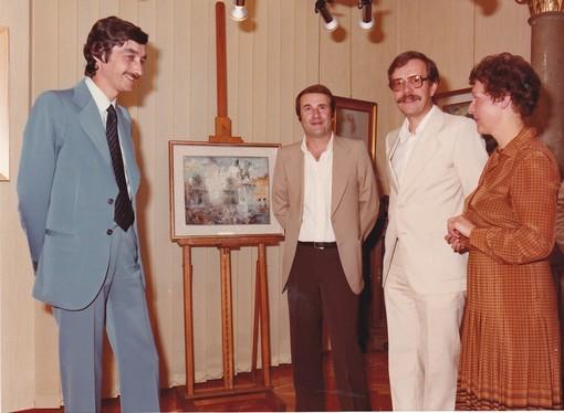 L'inaugurazione del 6 settembre 1980, con Pierluigi Losano secondo da sinistra