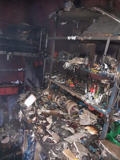 Incendio in via Saluzzo 101 a Pinerolo