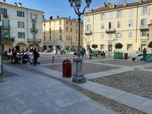 Piazza Facta, luogo dell'aggressione a Pinerolo