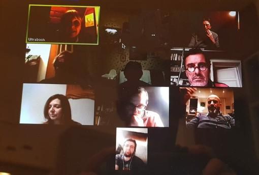 Una riunione in videoconferenza della segreteria del Pd di Pinerolo