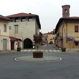 Uno scorcio di piazza Clemente Corte a Vigone