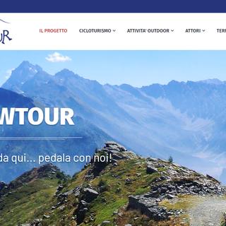 L'home page del portale di Upslowtour