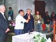Donna Marella alla festa del 2000 in Borgata Miandassa