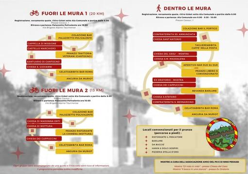 A Villafranca Piemonte si mangia, cammina e pedala, tra chiese, cappelle e castello a porte aperte