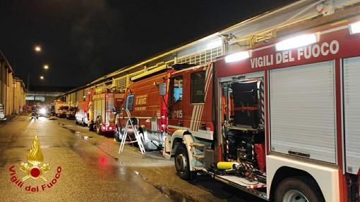 pompieri in azione a Moncalieri