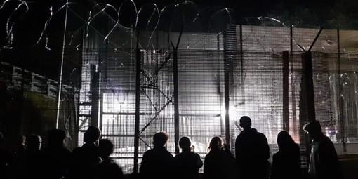 L'azione al cantiere di San Didero, ieri sera, nelle immagini pubblicate dalla pagina Facebook NoTavinfo No Tav